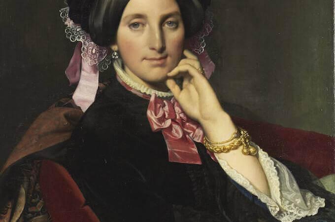 Jean-Auguste-Dominique Ingres, Ritratto di Caroline Gonse, nata Maille (1851-1852). Montauban, Musée Ingres