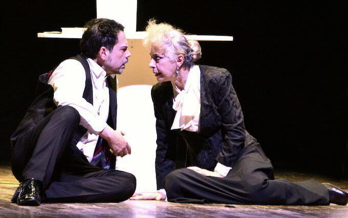 """Mino Manni e Gianna Coletti nello spettacolo """"Il fu Mattia Pascal""""."""