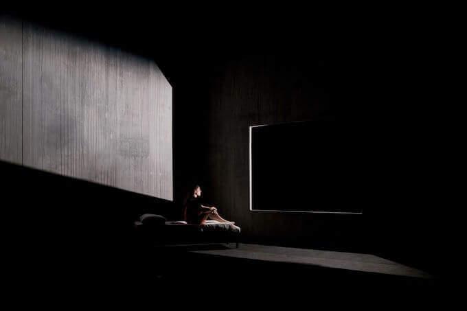 """Una scena dello spettacolo """"Frame"""" di Alessandro Serra"""