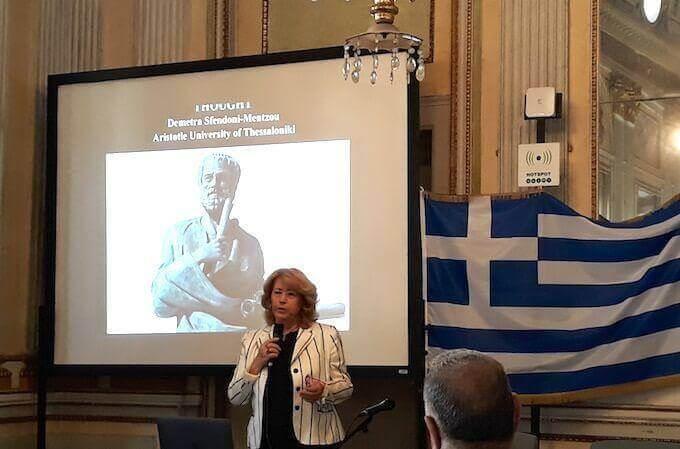 La professoressa Dimitra Sfendoni-Mentzou a Milano