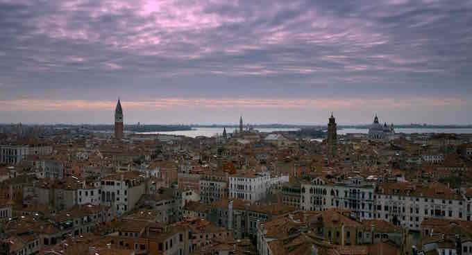 """Veduta di Venezia tratta dal film """"Tintoretto. Un ribelle a Venezia"""""""