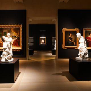 Un'immagine dell'allestimento della mostra sul Romanticismo alle Gallerie d'Italia di Milano. Foto di Alessandro Cervetti