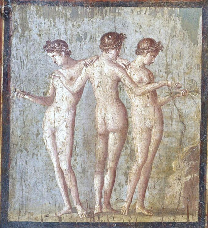 Le Grazie. Pompei, casa di Titus Dentatius Panthera Affresco, cm 47 x 53 Napoli, Museo Archeologico Nazionale