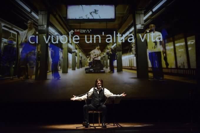 """Paolo Scheriani nello spettacolo """"Battiato / Pirandello"""""""