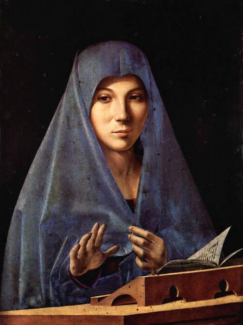 Antonello da Messina, Annunciata, 1475-1476. Galleria Regionale della Sicilia di Palazzo Abatellis, Palermo. Crediti fotografici: Foto Giulio Archinà