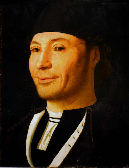Antonello da Messina, Ritratto d'uomo, 1470 ca. Museo della Fondazione Culturale Mandralisca, Cefalù (PA) Crediti fotografici: Foto Giulio Archinà