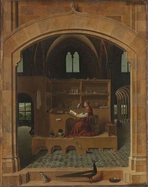 Antonello da Messina, San Girolamo nello studio, 1475 ca. The National Gallery, Londra. Crediti fotografici: ©The National Gallery, London