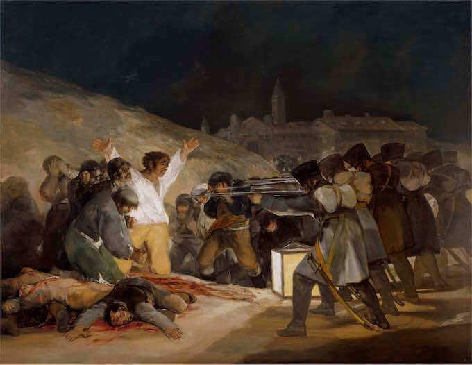 """Il """"3 maggio 1808"""" di Goya, esposto al Museo del Prado di Madrid"""