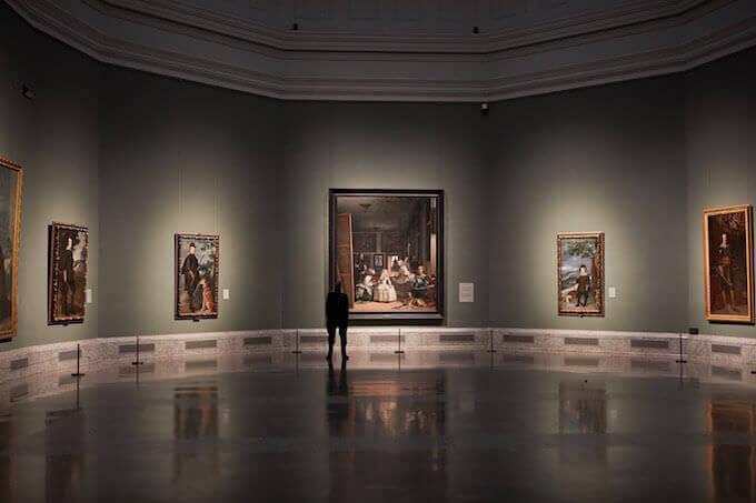 Jeremy Irons al Museo del Prado di Madrid