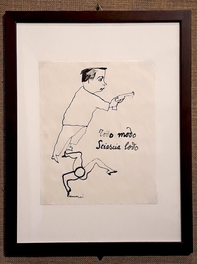 Mino Maccari, Todo modo Sciascia Lodo, inchiostro su carta. Archivio Sciardelli, Milano