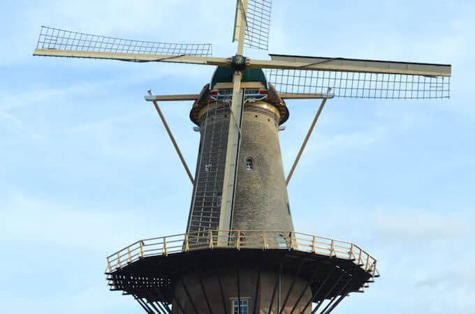 Il mulino Molen de Roos a Delft