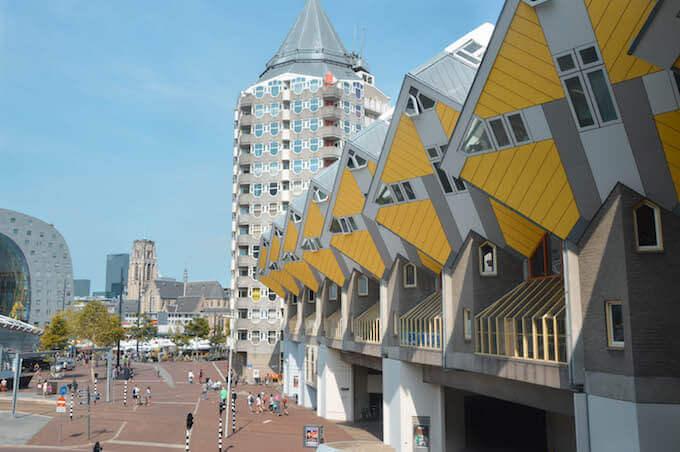 Rotterdam: le case cubiche e il Matitone