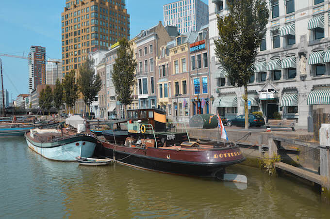Una vista di Rotterdam