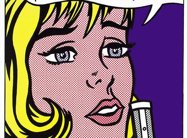 Roy Lichtenstein, Reverie (1965). Serigrafia su carta bianca liscia. 76.5 x 60.9 cm Collection Lex Harding © Estate of Roy Lichtenstein