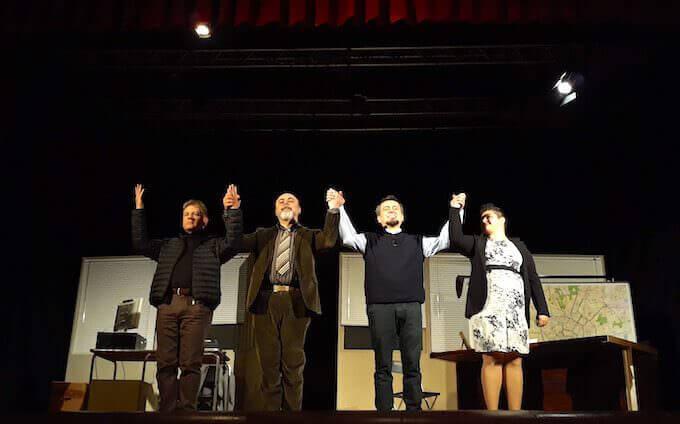 """Gli attori dello spettacolo """"Il caso Parravicini"""" di Marco Lindi"""