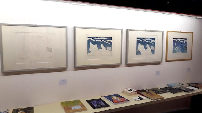 """Le varie fasi dell'acquaforte """"Nuages 1"""" di Folon in mostra alla Galleria Nuages di Milano"""