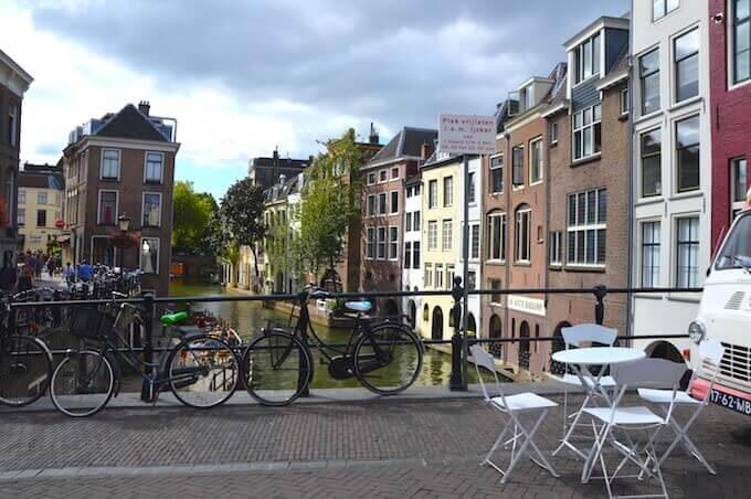 Il canale centrale di Utrecht, in Olanda