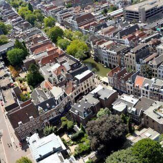 Vista dal campanile di Utrecht, in Olanda