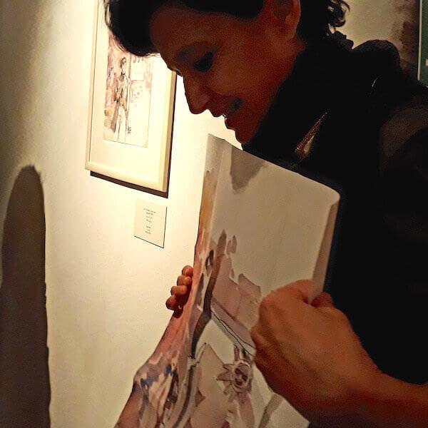 Patrizia Zanotti alla Fondation Folon