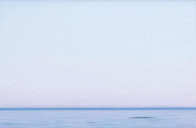 Piero Guccione, La linea azzurra