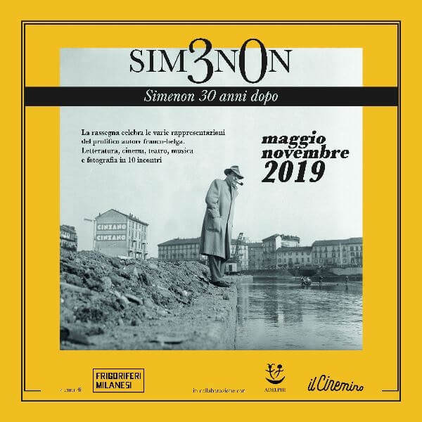 Locandina degli incontri dedicati a Georges Simenon a 30 anni dalla scomparsa