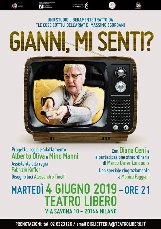 """Locandina dello spettacolo """"Gianni, mi senti?"""""""