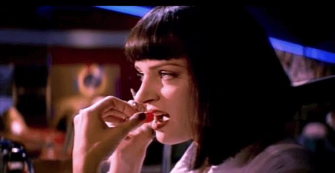 """Un fotogramma del film """"Pulp Fiction"""" di Quentin Tarantino"""