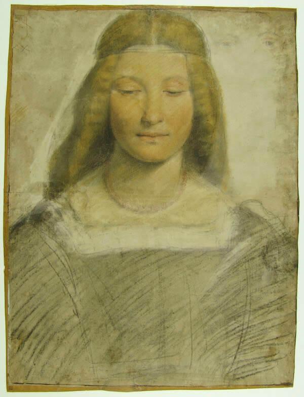 Giovanni Antonio Boltraffio, Studio per ritratto di donna a mezzo busto (1498-1502). Copyright Veneranda Biblioteca Ambrosiana