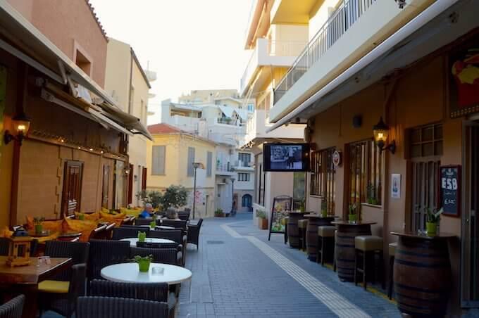 Il bar Utopia a Iraklio, Creta