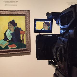 Filming 'L'Arlésienne', EOS Van Gogh & Japan © EXHIBITION ON SCREEN (David Bickerstaff)