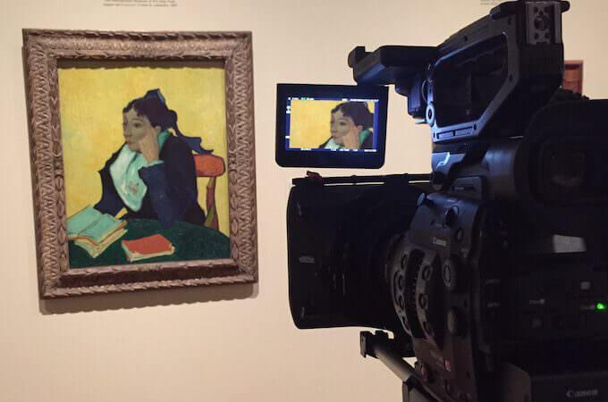 Filming 'L'Arlésienne', EOS Van Gogh & Japan © EXHIBITION ON SCREEN (David Bickerstaff)