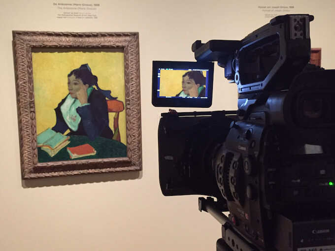Filming'L'Arlésienne', EOS Van Gogh & Japan © EXHIBITION ON SCREEN (David Bickerstaff)