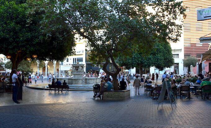 La fontana Morosini a Iraklio (Creta)