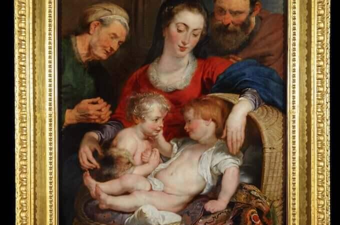 """La """"Madonna della cesta"""" di Rubens dopo il restauro"""