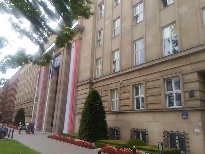 La sede del Ministero dell'Educazione a Varsavia