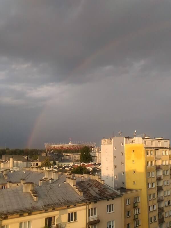 Arcobaleno a Varsavia