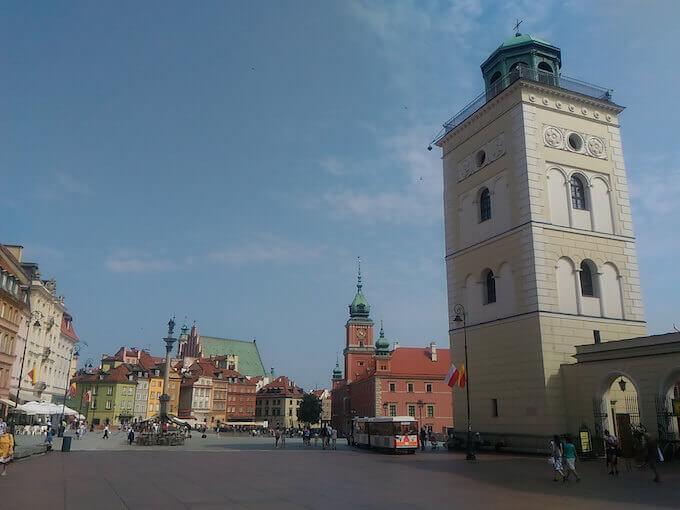 Varsavia: campanile di Sant'Anna