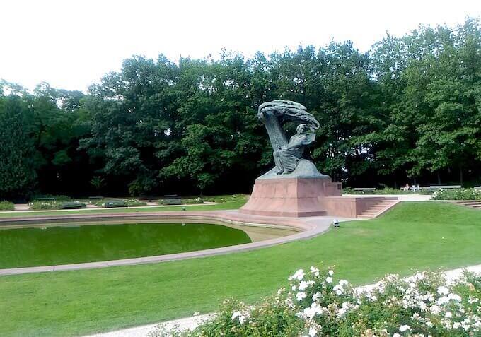 Varsavia: il monumento a Chopin