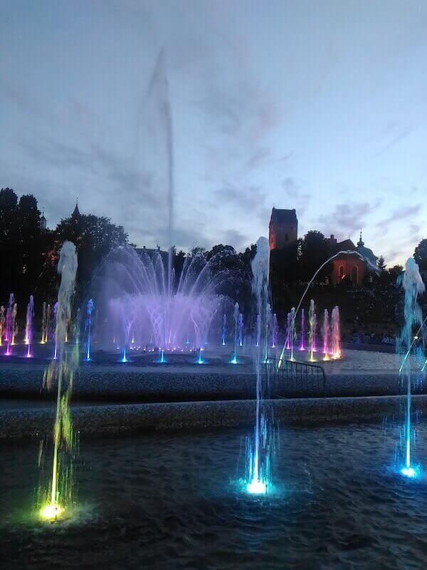 Il parco monumentale delle fontane a Varsavia