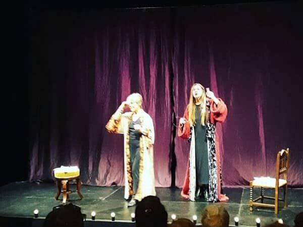 "Corinna Agustoni ed Elena Callegari in ""Cabaret Ceronetti"""