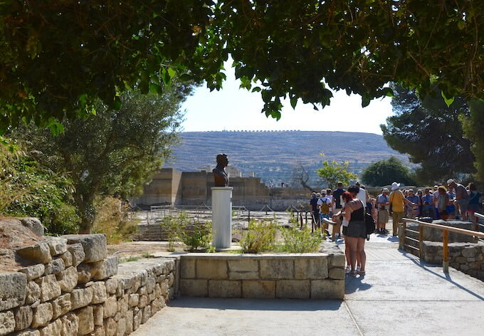 Ingresso al sito archeologico di Cnosso