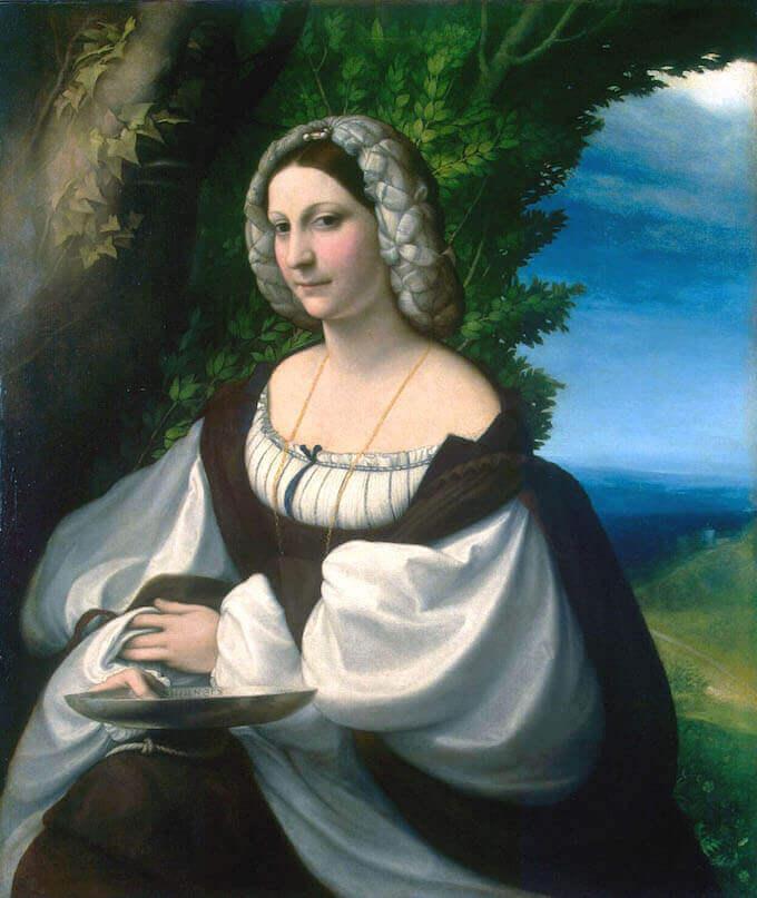 Correggio, Ritratto di giovane donna, Museo dell'Ermitage