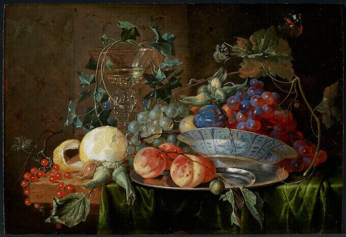 Jan Davidsz de Heem, Natura morta di frutta con un calice à la façon de Venise