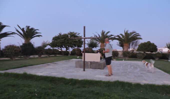 Sulla tomba di Nikos Kazantzakis a Iraklio, Creta