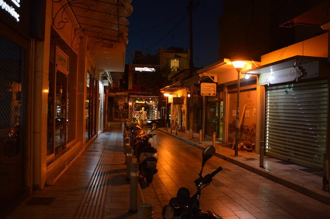 I vicoli notturni di Iraklio, Creta
