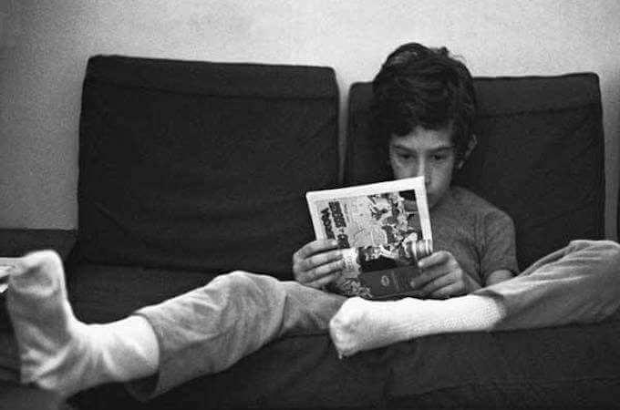 """Una foto di Paolo Vigevani per la mostra """"Lettori per caso"""""""