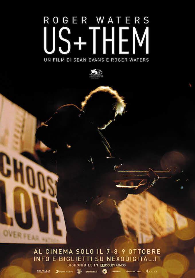 "Il poster del film ""Us + Them"" di Roger Waters"