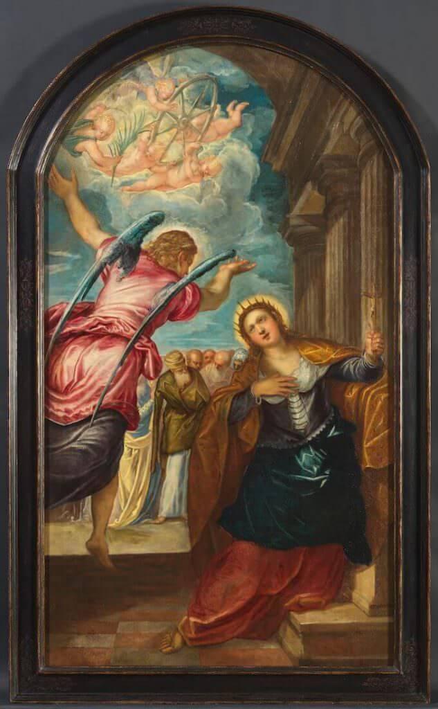 Jacopo Tintoretto, L'angelo annuncia il martirio a Santa Caterina d'Alessandria