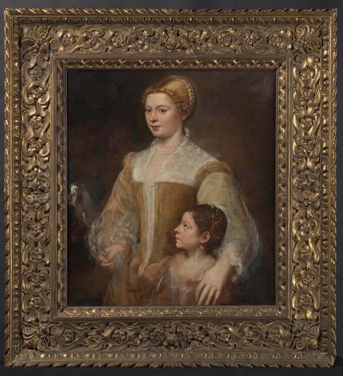 Tiziano Vecellio, Ritratto di dama con la figlia