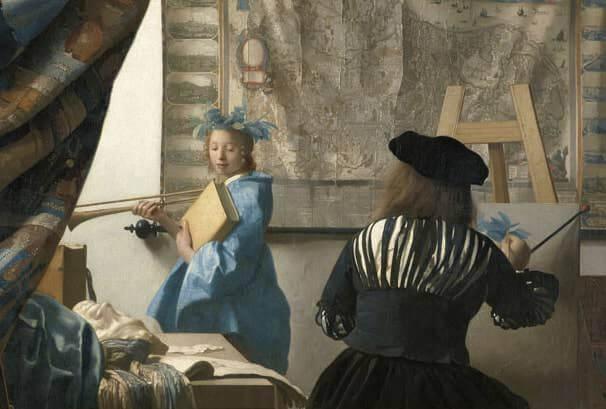 Daniel Arasse, L'ambizione di Vermeer, Carocci (particolare della copertina)